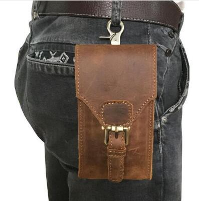 94264d15d4 Genuine Leather Mobile Phone Cover Case Pocket Hip Belt Pack Waist Bag  Father Gift For Caterpillar Cat S61 S60 S41 S31 S40 S30 Rhinestone Cell  Phone Cases ...
