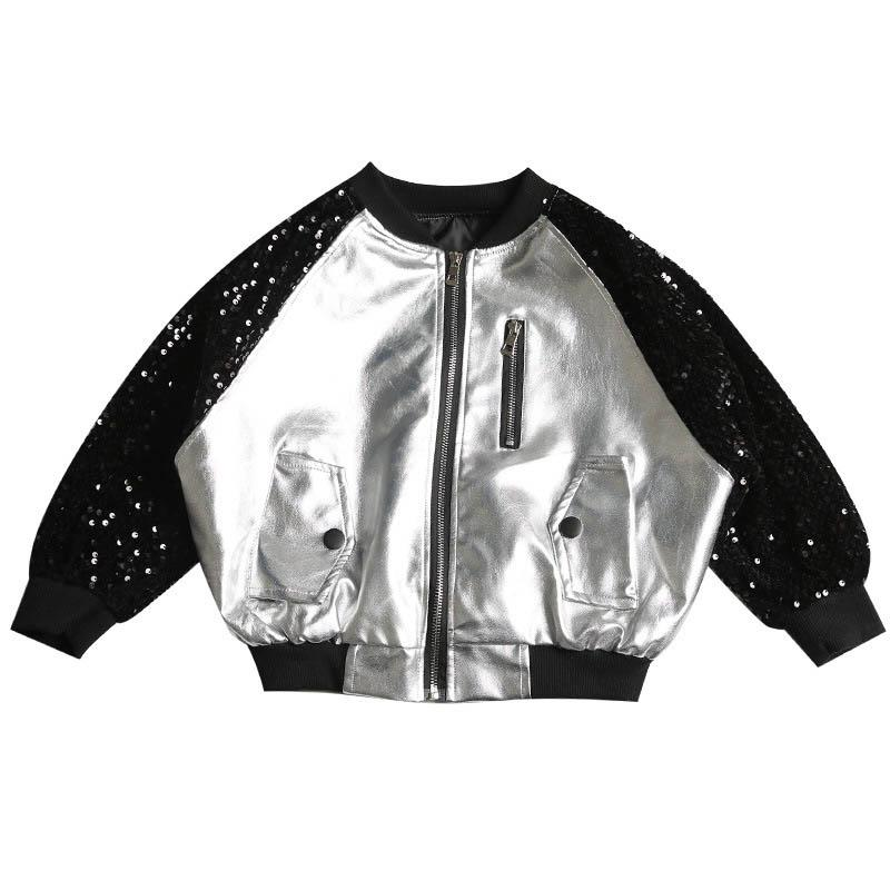 New kids designer jackets girls coat sequin casual kids coat kids jackets fashion kid designer clothes girls jacket retail A7918