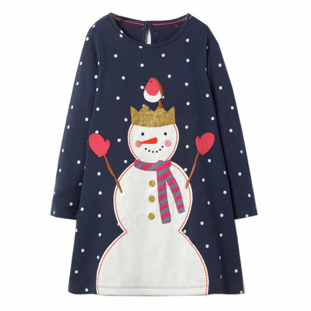 Princess Dress Autumn Winter Baby Girls Dress Christmas Costume Long Sleeve Kids Party Dresses for Girls Clothes Vestidos 2-7Y