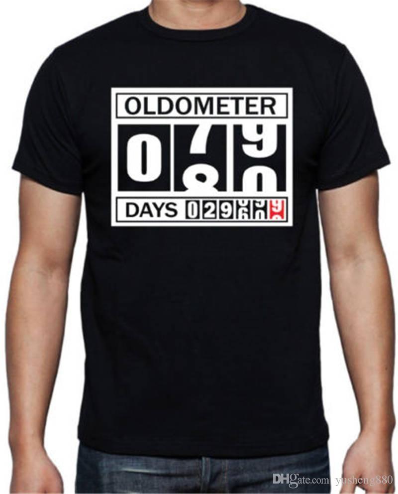 Shirt Maker O Neck 80Th Birthday Oldometer Short Sleeve Compression T Shirts For Men