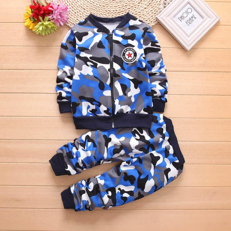 9225ff99c35a7 good quality 2019 New Kids Clothes Young Child Camouflage Jacket Coat +  Camouflage Pants Cotton Boys Clothing Outfit Clothes Sets