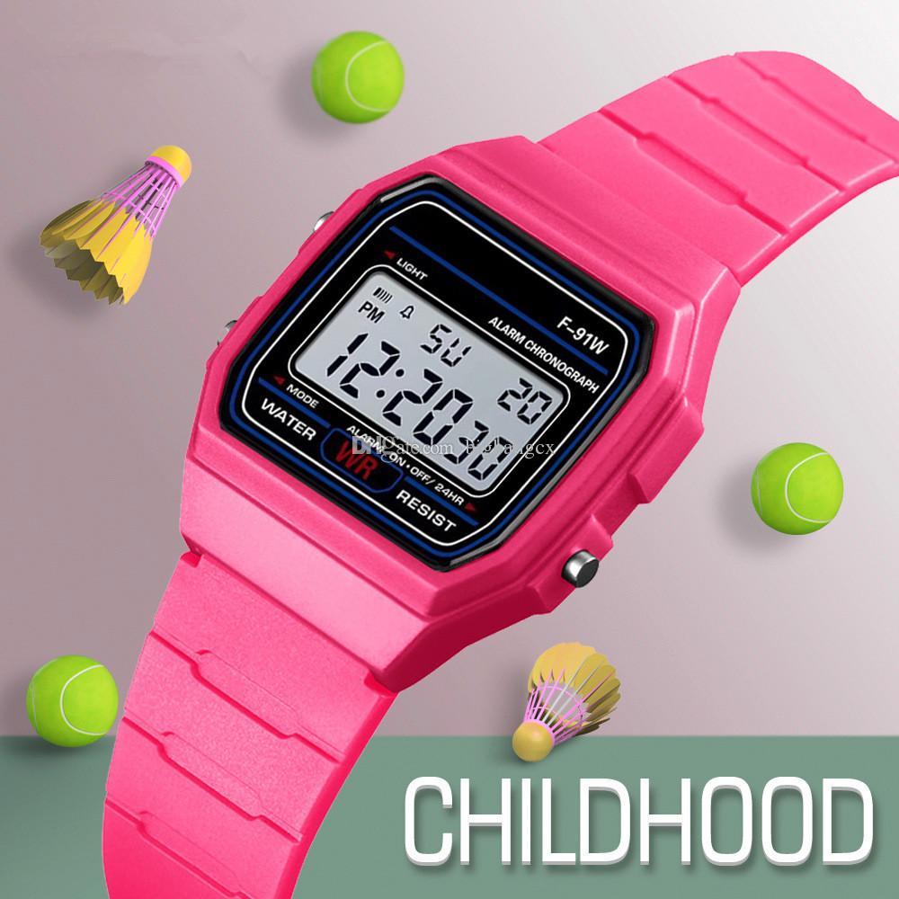 8297d253aef2 Compre Reloj De Los Hombres Del Reloj Del Despertador De Los Hombres De La  Moda   De Los Relojes De F 91W De La Mujer Relojes Baratos Del LED De La  Moda ...