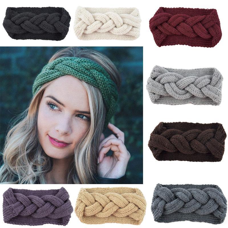 купить оптом вязаная вязание крючком повязка на голову женщины