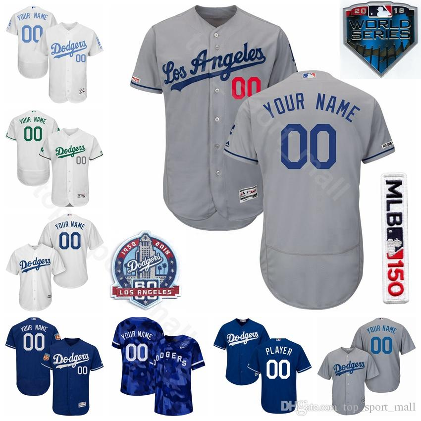 low priced a854f 0f94d Los Angeles Baseball Dodgers 31 Joc Pederson Jersey 60th Anniversary 13 Max  Muncy 3 Chris Taylor 99 Hyun-Jin Ryu Kenta Maeda Chris Taylor