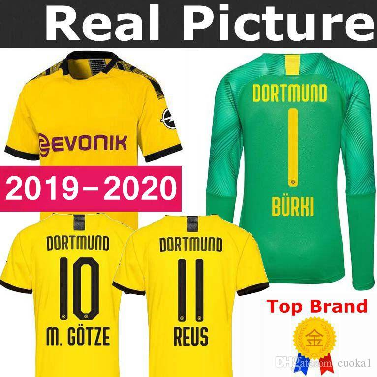 more photos 70a53 fed55 19 20 BVB Borussia Dortmund Jersey 2019 2020 Home Soccer PHILIPP GOTZE REUS  PULISIC WITSEL Jersey PACO ALCACER Football shirt