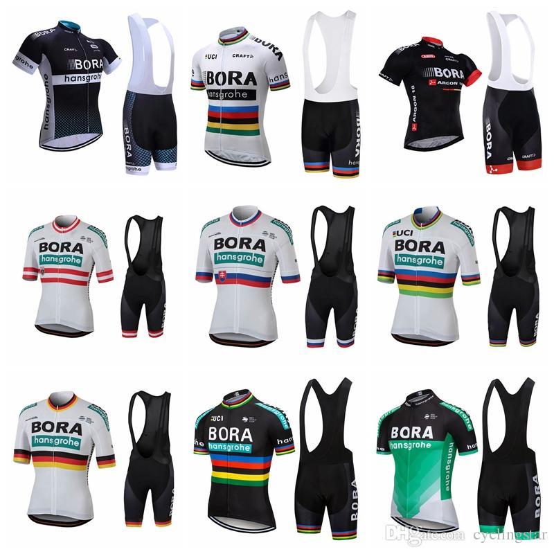 Hombres BORA Ciclismo Jersey Establece 2019 De Manga Corta Ropa De Bicicleta  De Montaña De Secado Rápido Ropa Deportiva De Bicicleta Uniformes Ropa  Ciclismo ... f02a6371831d6