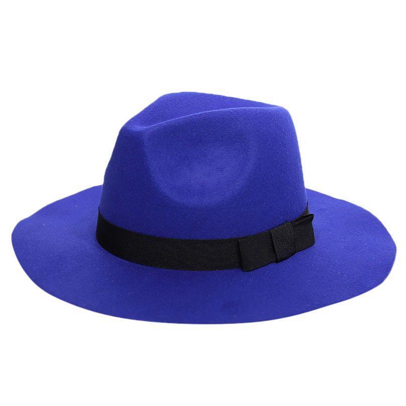 f3f8f6cc758 Winter Ladies Women s Crushable Wool Felt Outback Hat Panama Hat ...