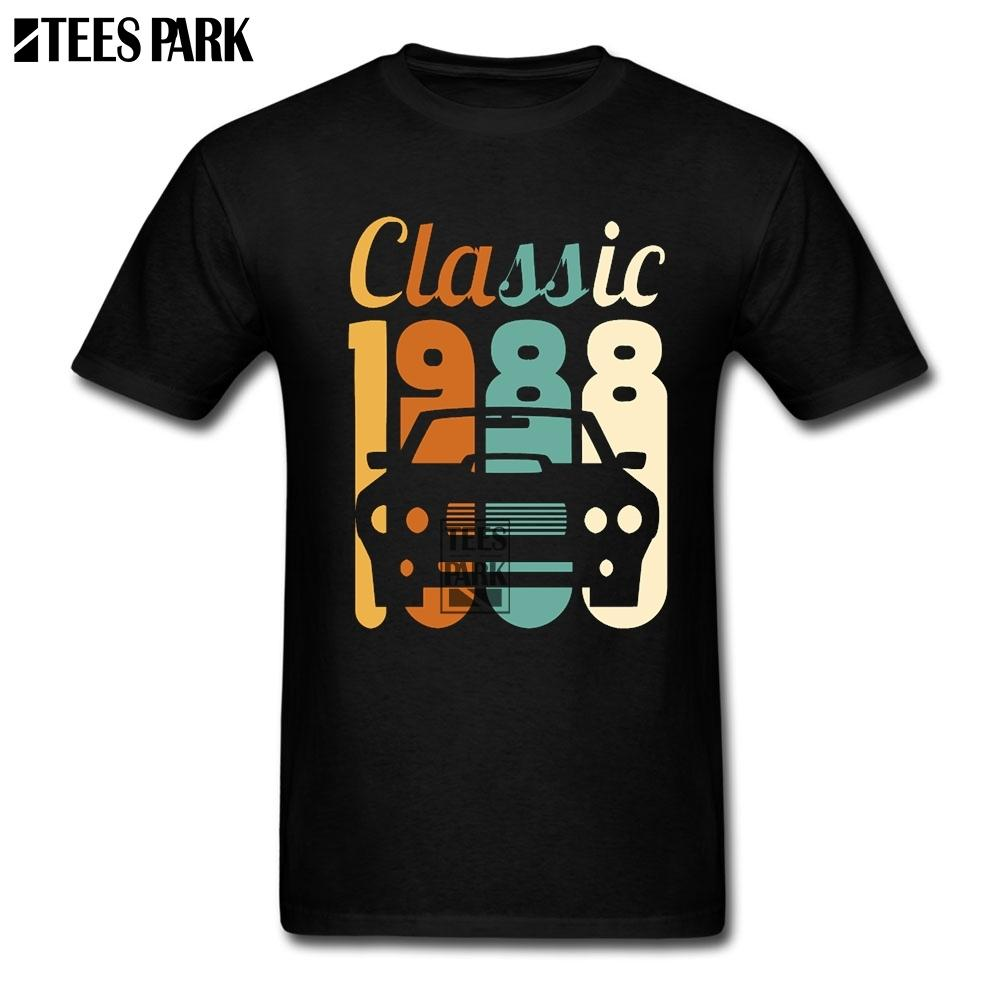 2019 Shirt Men Vintage 1988 Birthday 30th Gift 30 Years Old Awesome T Shirts Short Sleeve Designing Daddy All That Tshirt Cool Tee