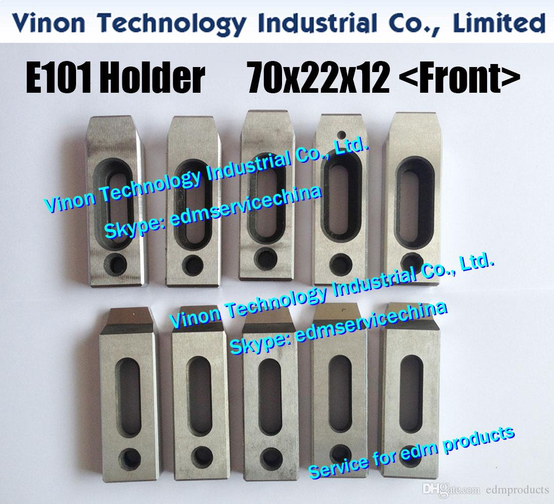 (4pcs/lot) E101 edm Clamping Jig Holder 70Lx22Wx12H M8 screw (Front type)  for all Wire EDM machines, Wire EDM Clamp 70L Can Mix Reserve type