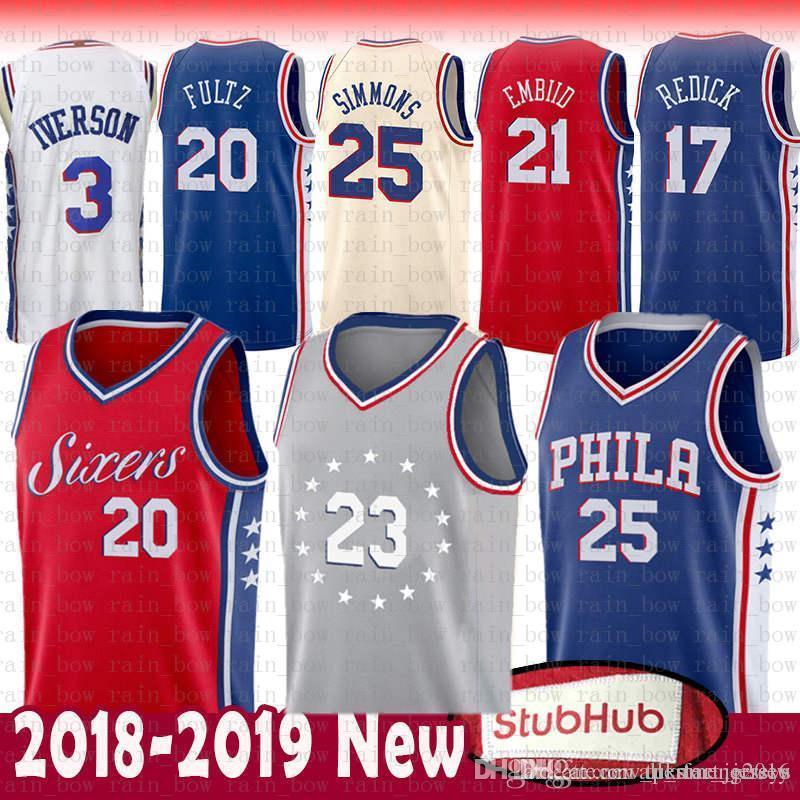 6baf30d07293 2019 Top Sale 21 Embiid Ben Philadelphia Jersey 76ers Jimmy 23 .