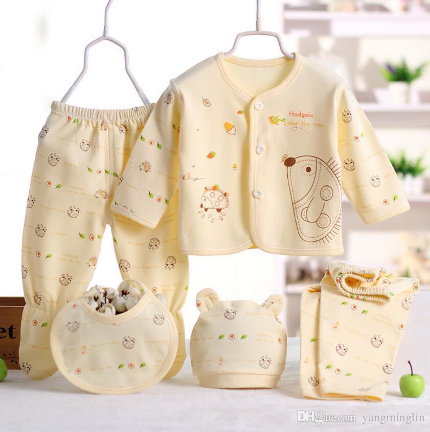 edbe965db8e7 Newborn Baby 0-3M Infant Grils Boy Clothes 100% Cotton Infant Suit ...