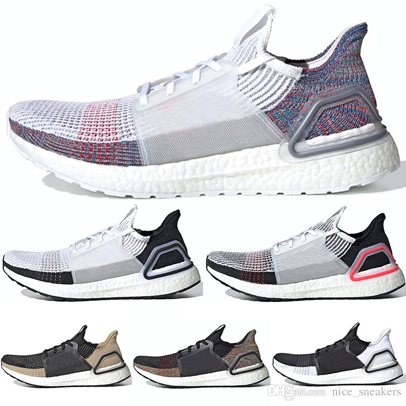 c6a7bc1388 Compre Adidas Ultra Boost 19 Homens Mulheres Tênis De Corrida Laser  Vermelho Escuro Pixel Refract Núcleo Preto Designer Trainer Sports Tamanho  36 47 De ...
