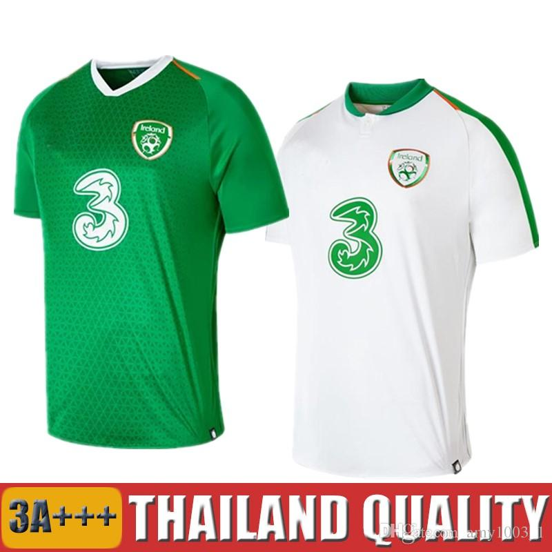 5a7220034 2019 Top Thailand 2018 2019 Ireland Soccer Jerseys Republic Of Ireland  National Team Jersey 18 19 Home Away Football Kit Soccer Shirt Green From  Amy1003 1