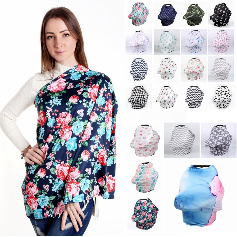 d17f8d70ce3 2019 Baby Floral Feeding Nursing Cover 22Styles Striped Newborn Toddler  Breastfeeding Privacy Scarf Cover Shawl Car Seat Stroller Canopy AAA2200  From ...