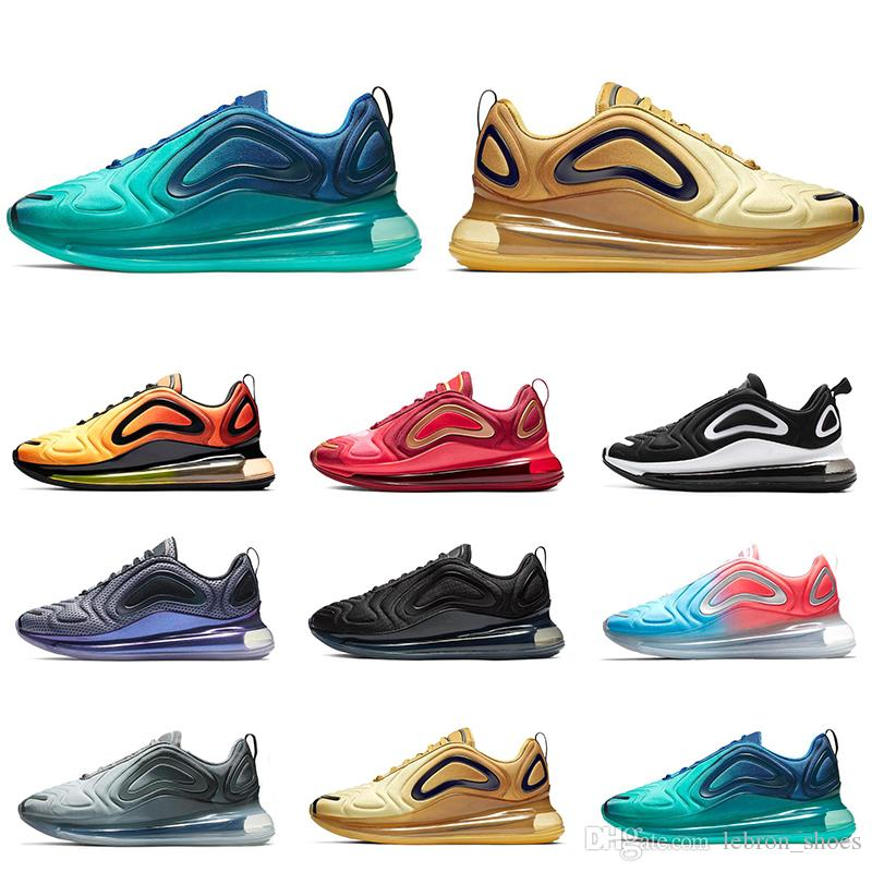 bf56676e53b29 Hot Sale 720 Mens Running Shoes Women Sports Sneakers Triple Black ...