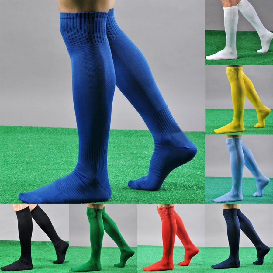 50e27eb3a Socks Soccer Men Sport Cotton Football Soccer Long Striped Socks Baseball  Over Knee High Sock