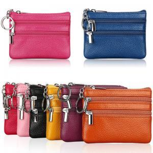 Women Leather Double Zipper Wallet Fashion Cute Min Card Coin Purse Clutch Small Change Bag Men Pocket Wallets Key Holder LJJT256