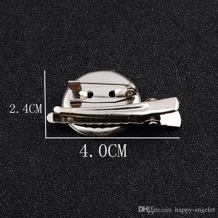 hair Alligator clip accessories Metal Brooch Double combination disc Single Prong teeth clips for DIY hair bows flower clothing FJ3219