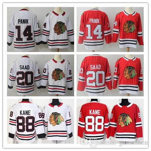 Men s Chicago Blackhawks 88 Patrick Kane 20 Brandon Saad 14 Chris ... e0fd1ebb2