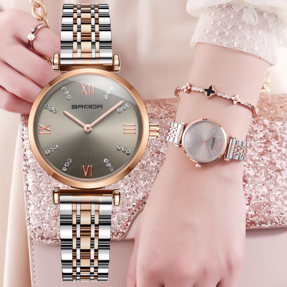 bde499709df Rose Gold Crystal Women Watches Stainless Steel Luxury Brand Quartz Watch  Women Waterproof Female Clock Diamond Lady Wrist Watch Fine Watches Latest  Watches ...