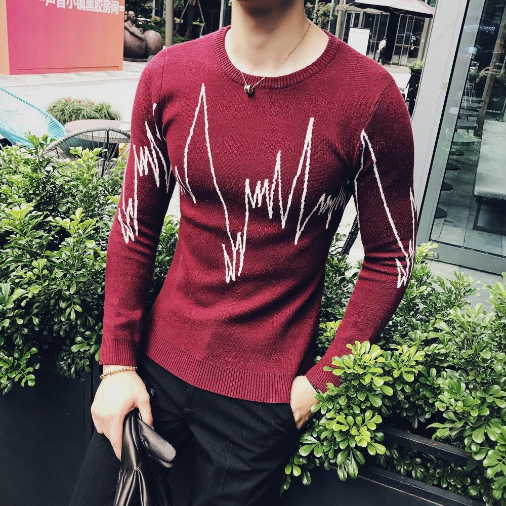 2019 Flastflight Sweater Pullover Men Fancy Slim Fit Sweater Men
