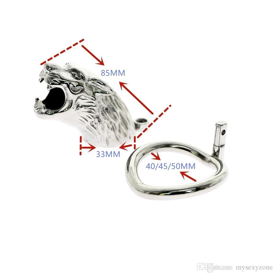 Comprare nuovo in acciaio inox hollow castità gabbia blocco pene maschile blocco cazzo gabbia anello verginità cintura serratura sm adulto gioco giocattoli del.
