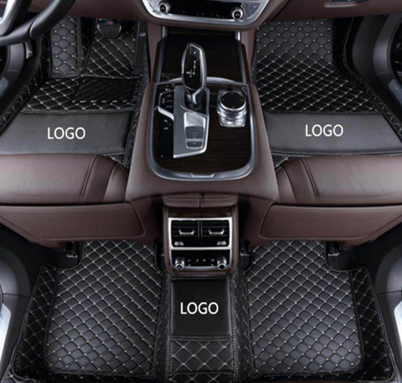 Mercedes-Benz AMG GT 2015-2018 car anti-slip mat luxury surrounded by waterproof leather wear-resistant car floor mat with logo