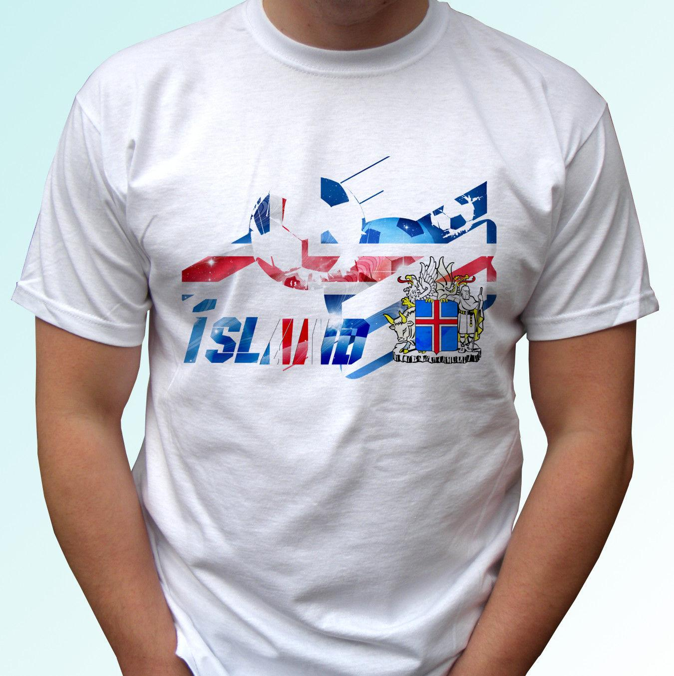 9a58941b43d Iceland Football Flag White T Shirt Island Bolur Soccer Tag World Cup Top  TeeFunny Unisex Casual Gift Collared T Shirts Funky Tshirts From  Justtheshirt, ...