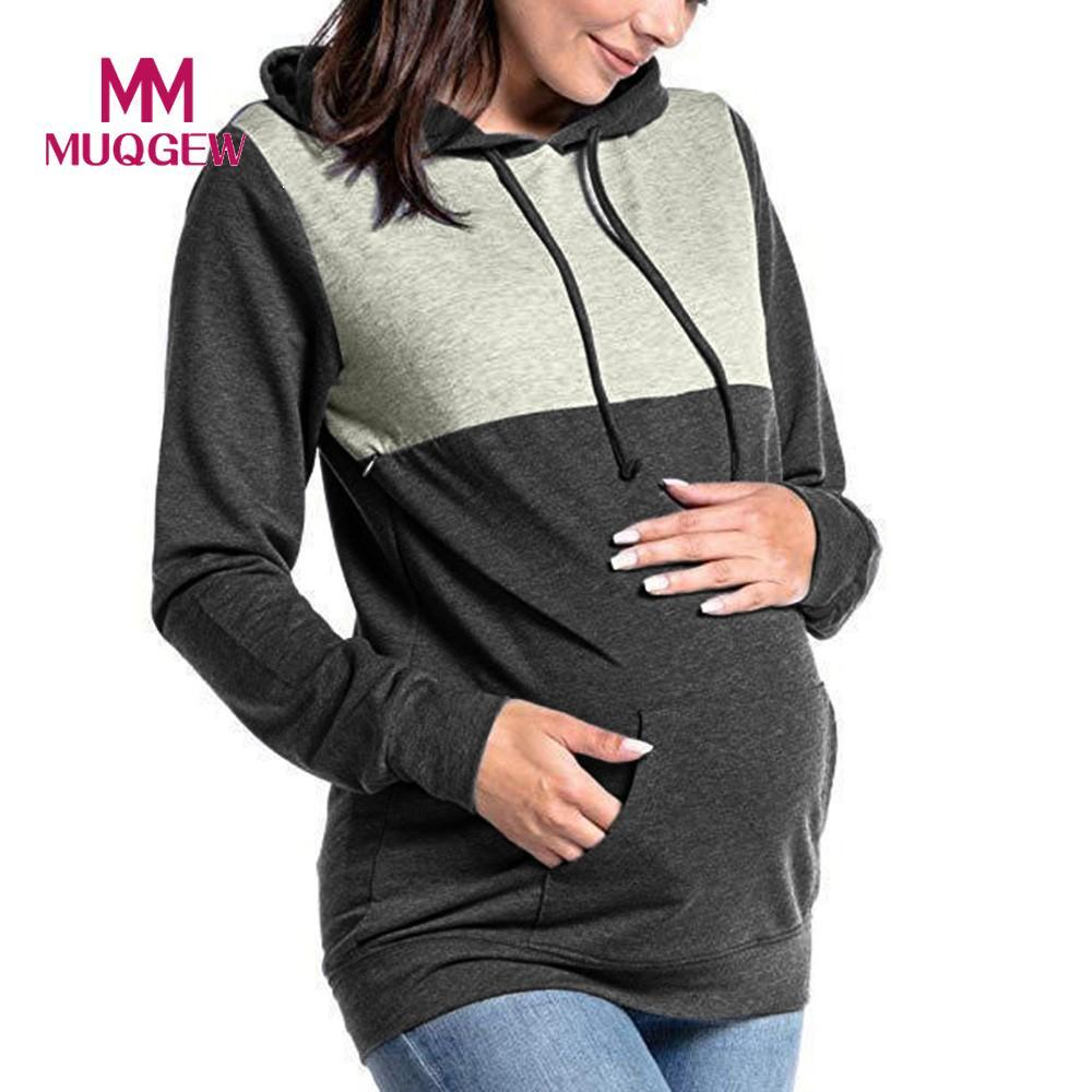 db1a441b19b 2019 Women S Pregnant Nursing Baby Maternity Joint Hooded Tops Blouse  Outwear Clothes Maternity Hoodie Sweatshirt Solid Tops  EW From Callshe