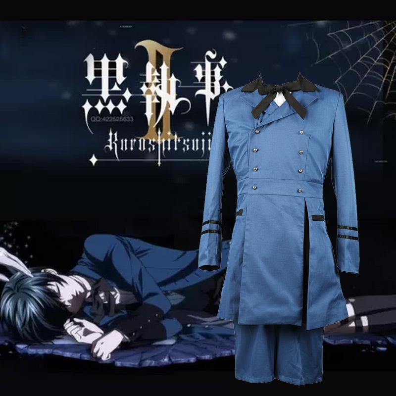 New Men Cosplay Japanese Anime Black Butler Ciel Phantomhive Halloween Christmas Party Costume Jacket Outfit Suit
