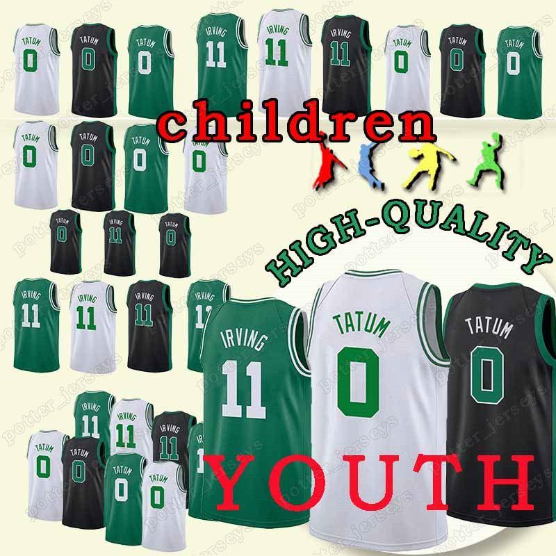 new styles c09e8 87bc3 YOUTH Boston 0 Jayson Jersey Tatum Celtics 11 Kyrie Jersey Irving Jerseys  Cheap sales t shirt 100% Stitched