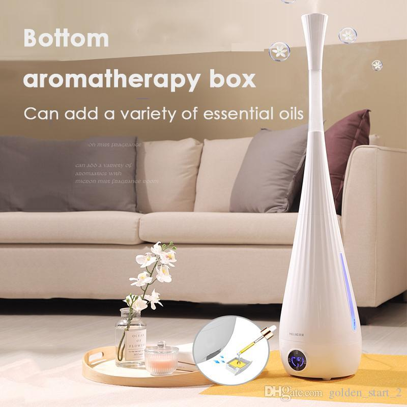 MH-610 220V Household Floor-Standing Ultrasonic Air Humidifier Remote Control Smart Humidifier Essential Oil Aroma Diffuser Mist Maker