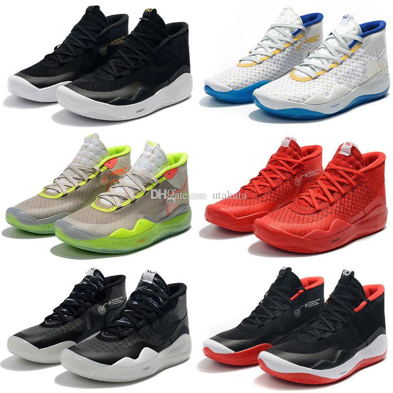 huge selection of 92af0 d7f5b 2019 New Kevin Durant XII KD 12 Sports Basketball Shoes For Mens Top Quality  Triple Black Red 12s Designer Sports Sneakers Trainers 7 12 Baseball Shoes  ...