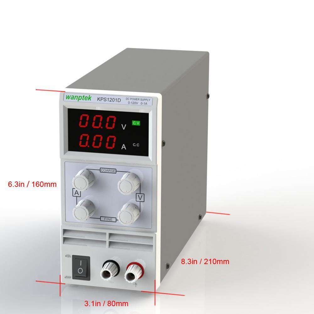 Switching Display Mini DC Power Supply Precision Variable Adjustable AC 110V/220V 50/60Hz 3 Digits LED 0-120V 0~2A