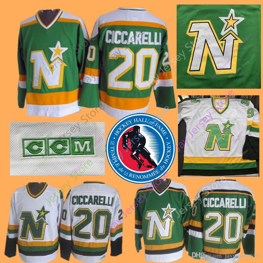 2019 Dino Ciccarelli Jersey 2010 Hall Of Fame Dallas Stars Minnesota North  Stars Jerseys Ice Hockey Green CCM Vintage From Jayjerseystore ed787611137