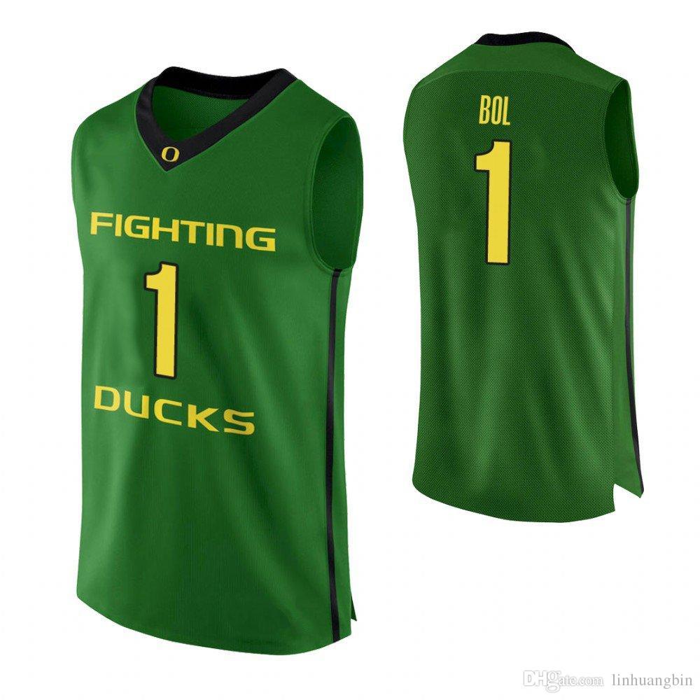 big sale 1eb2f ec7b8 Bol Bol Youth Oregon Ducks White Ehab Amin Green Francis Okoro Kenny Wooten  Stitched College Basketball Jersey