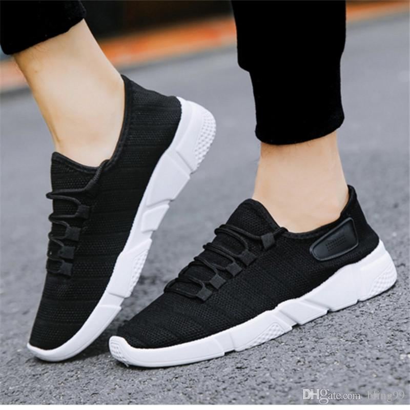 0cb36535a615 2019 Fashion Design New Men S Casual Shoes Sports Shoes Trend Black White  Gray Multi Color Optional 36 45 Mens Dress Shoes Platform Shoes From  Bling99