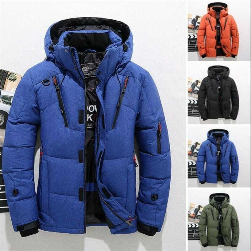 Down Hooded Climbing Oversize Men's Warm Jacket Snow Duck Winter Ski Coat