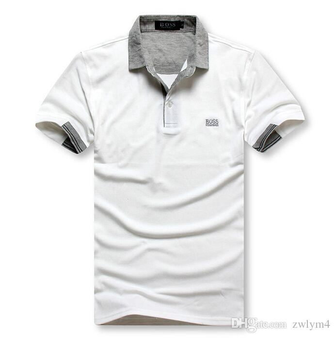 33902f01f Hot Luxury 2019 Boss Polo Shirt Men Big Horse Camisa Solid Short ...