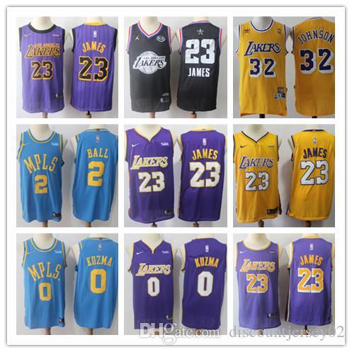 new style 68f66 cc1ac 2019 Los Angeles Jerseys Laker LeBron 23 James Kobe 24 Bryant Kyle 0 Kuzma  Lonzo 2 Ball Kobe 8 Bryant Jersey