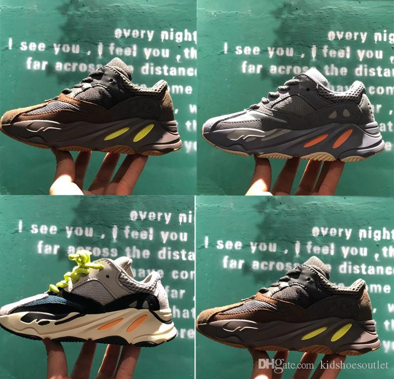 2c91f09ee New Kanye West Mauve Inertia 700 Infant Kids Running Shoes WAVE RUNNER  SOLID GREY Toddlers Children Outdoor Sports Sneakers Boy Girl Trainer  Sneakers For ...