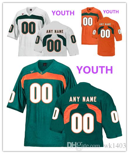 wholesale dealer 1f55e dd57f Miami Hurricanes Jaquan Johnson 4 Turner Davidson 47 Sheldrick Redwine 22  jerseys MEN WOMEN YOUTH White green orange College Football jersey