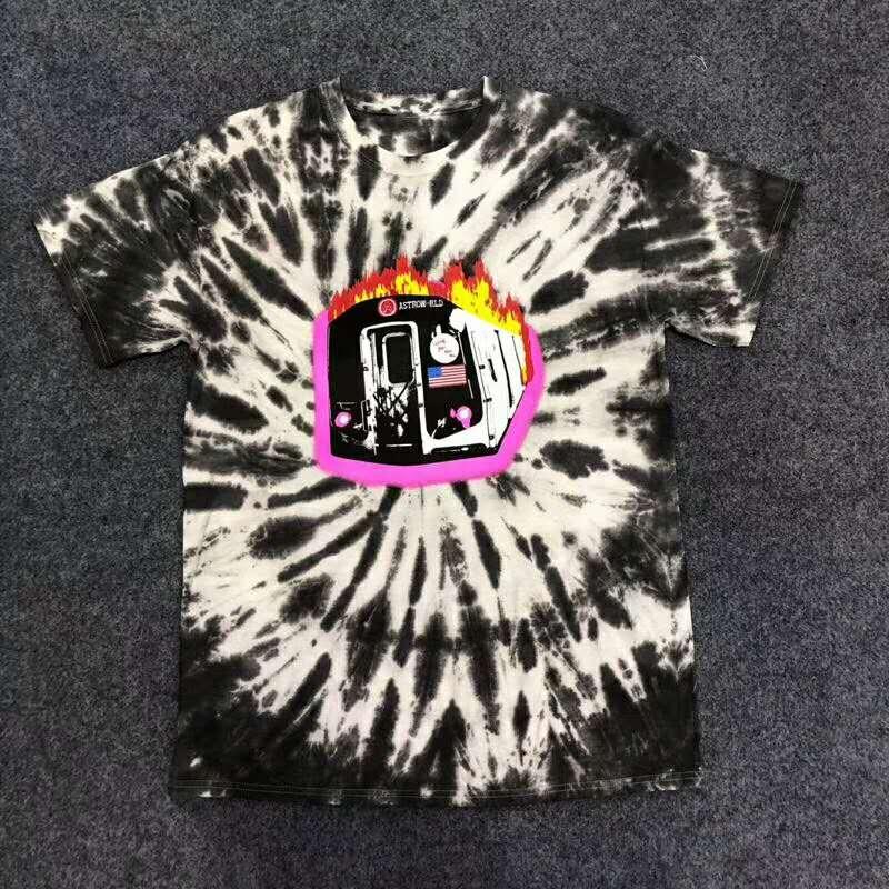 10c122756e4e New Travis Scott Astroworld Sicko Tee Burning Train T Shirt USA Hip ...