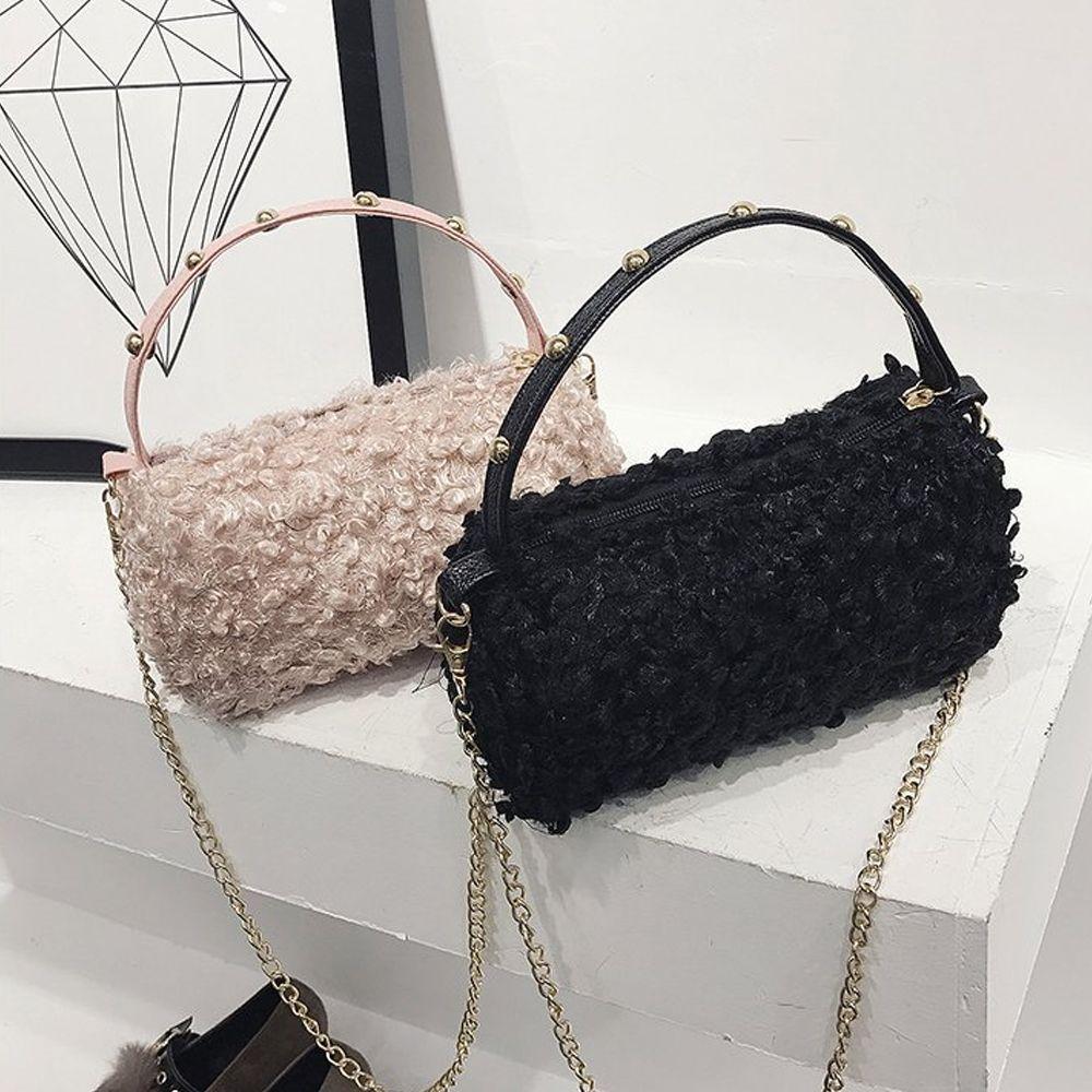 e2b0e45a6e1b NEW Luxury Handbags Women Bag Designer Faux Wool Fur Female Messenger Bag  Winter Ladies Crossbody Tote Bags Hangbag Leather Satchel Ladies Bags From  ...