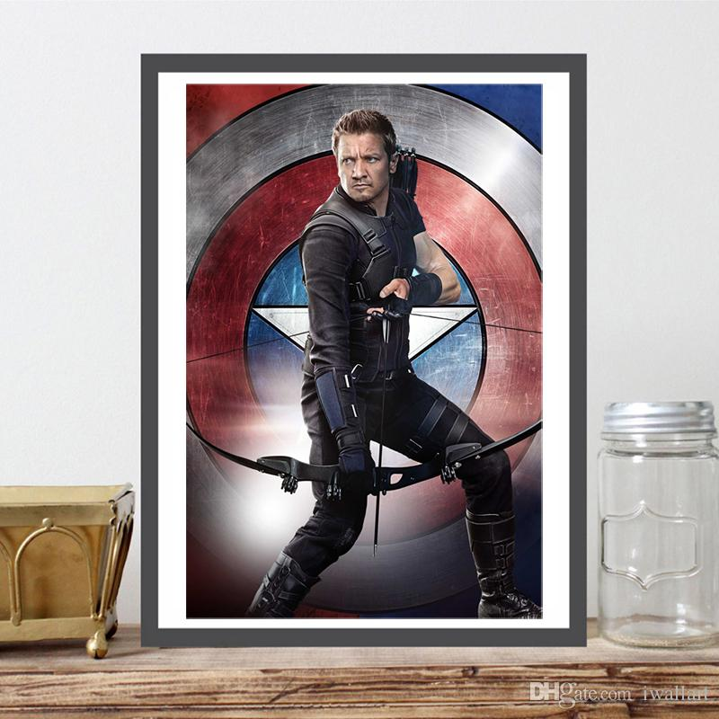 Hawkeye Marvel Superheroes Art Canvas Poster Painting Wall Picture Print For Living Room Home Bedroom Decoration