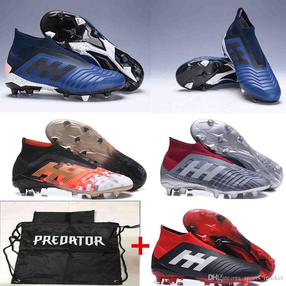 6de4367e2cb6 2018 Predator 18+ FG Soccer Cleats Original Football Boots Predator Tango  18.1 Mens Outdoor Soccer Cleats UK 2019 From Sports market