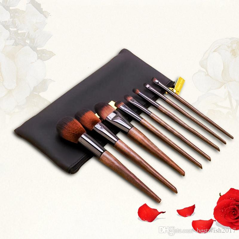 Makeup Brushes Set Walnut Professional Synthetic High End Make Up Brush Set For Cosmetic Make Up Contouring Powder Contour Foundation UK 2019 From ...