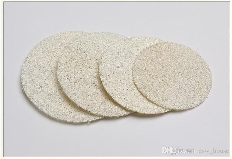 Round Natural Loofah Pad 5.5cm/6cm/7cm/8cm Makeup Remove Exfoliating and Dead Skin Bath Shower Loofah