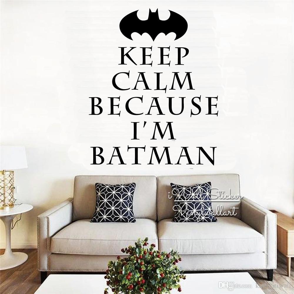 Behalten Sie Ruhig Zitat Wandaufkleber Wandaufkleber Fur Kinderzimmer Behalten Sie Ruhe Weil Ich Batman Bin Kinderzimmer Wand Dekoration Q329