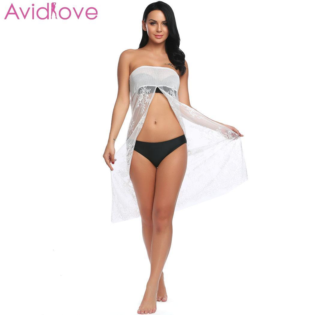 58ce80badc6cc 2019 Avidlove Pron Sexy Lingerie Sleepwear Sexy Underwear Erotic Women Sexy  Lingerie Dress Sheer Lace Cover Up Nightwear G String From Guichenocat